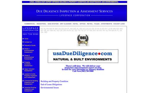 Screenshot of Press Page usaduediligence.com - Expert Witness Building & Property Condition and Maintenance and Environmental - captured Feb. 14, 2016