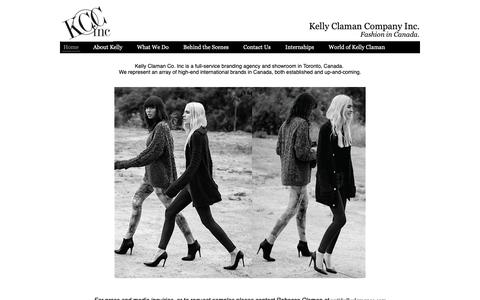 Screenshot of Home Page kellyclaman.com - Kelly Claman Co. Inc. - Canadian Distributor of Luxury Apparel and Accessories - captured Oct. 15, 2018