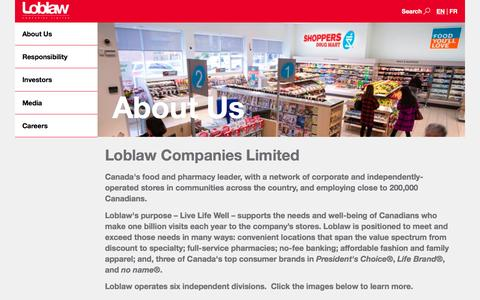 Loblaw Companies Limited - About Us