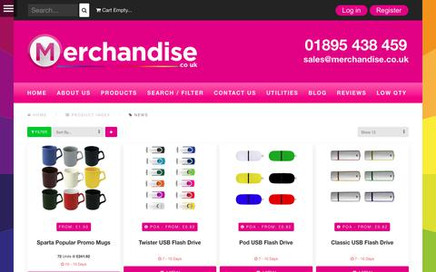 Screenshot of Press Page merchandise.co.uk - News | Merchandise Ltd - captured Nov. 21, 2017