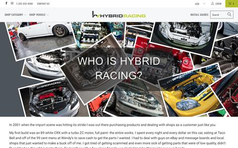 Screenshot of About Page hybrid-racing.com - About Us - Hybrid Racing - captured July 6, 2018