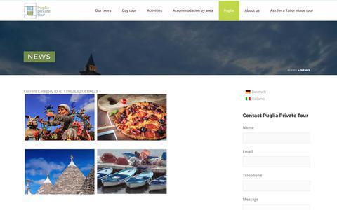 Screenshot of Press Page pugliaprivatetour.it - News - Puglia Private Tour - captured Sept. 19, 2017
