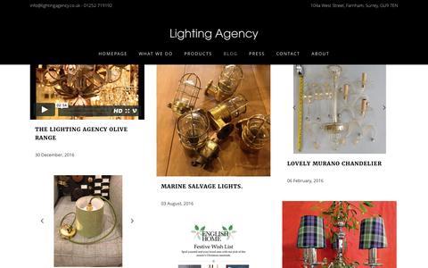 Screenshot of Blog lightingagency.co.uk - Blog Page - Lighting Agency - captured May 18, 2017
