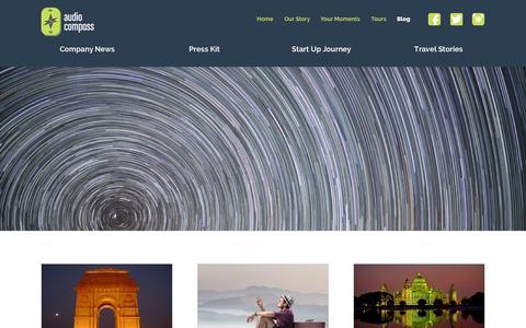 Screenshot of Blog audiocompass.in - AudioCompass Blog - captured Sept. 13, 2014