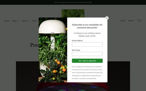 Screenshot of Press Page plantui.com - Press                      – Plantui - captured March 1, 2019