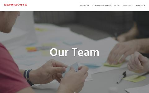 Screenshot of Team Page sennovate.com - Our Team   Sennovate - captured Oct. 18, 2018