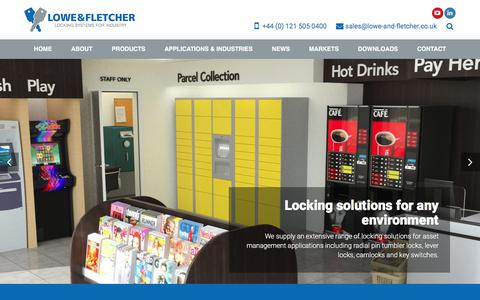 Screenshot of Home Page lowe-and-fletcher.co.uk - Locking Systems for Industry | Lowe & Fletcher - captured July 23, 2018