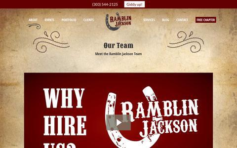 Screenshot of Team Page ramblinjackson.com - Web Marketing Agency Boulder, Colorado - captured Sept. 21, 2018