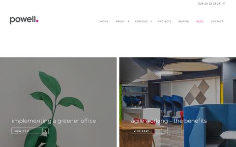 Screenshot of Press Page powell.co.uk - Blog - Office Design | Office Fit Out | Office Refurbishment | Powell - captured Sept. 29, 2018