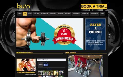 Screenshot of Signup Page burngym.com - Join   Burn Gym and Spa - captured Nov. 3, 2014