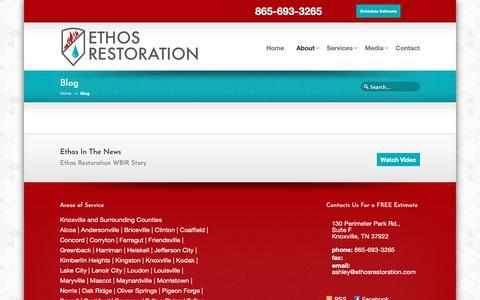 Screenshot of Blog ethosrestoration.com - Blog - Ethos Restoration Knoxville Ethos Restoration Knoxville - captured Sept. 29, 2018