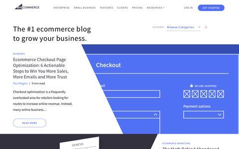 Screenshot of Blog bigcommerce.com - #1 Ecommerce Blog on Marketing & Selling Online - captured April 21, 2017