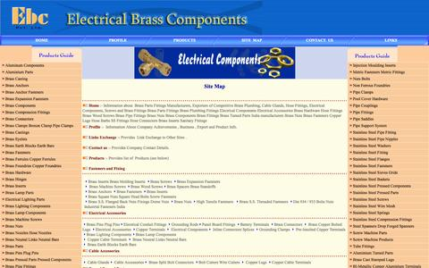 Screenshot of Site Map Page electrical-brass-components.com - Electrical Components Brass Components Brass Fittings Brass Screws electrical components brass fittings Brass Components - captured Oct. 2, 2014