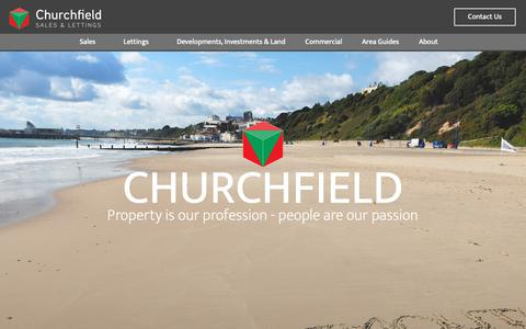 Screenshot of Home Page churchfield.uk.com - Estate Agent In Bournemouth | Churchfield Sales & Lettings - captured Sept. 28, 2018