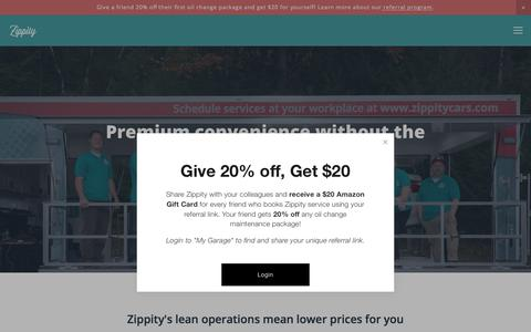 Screenshot of Pricing Page zippitycars.com - Pricing — Zippity - captured July 10, 2018