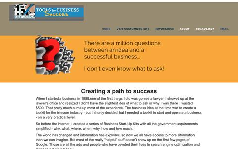 Screenshot of About Page toolsforbusiness.info - About Tools for Business - captured Oct. 18, 2018
