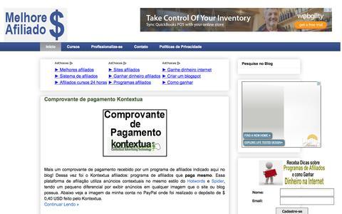 Screenshot of Home Page melhores-afiliados.blogspot.com.br - Melhores Afiliados - captured Sept. 19, 2014