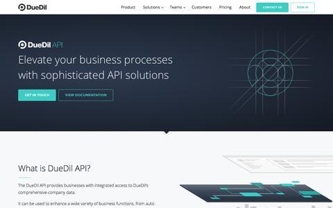 API | DueDil