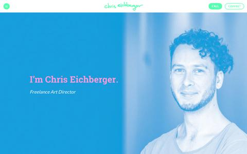 Screenshot of Home Page chriseichberger.com - Chris Eichberger — Art Director - captured July 29, 2017