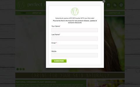 Screenshot of FAQ Page naturalskin.net.au - Perfect Natural Skin - captured Oct. 9, 2014