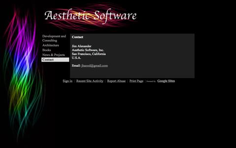 Screenshot of Contact Page aestheticsoftware.com - Contact - aesthetic-site - captured Oct. 4, 2014