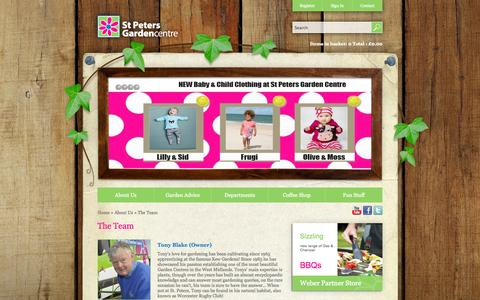 Screenshot of Team Page stpetersgardencentre.co.uk - The Team - captured Sept. 30, 2014