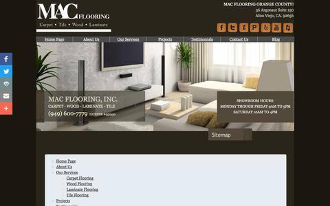 Screenshot of Site Map Page macflooringservices.com - Sitemap | MAC Flooring Services, Inc. | Orange County - captured Sept. 28, 2017