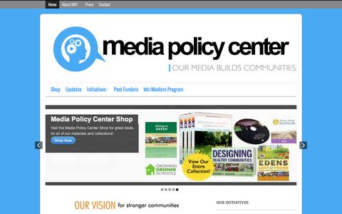Screenshot of Home Page mediapolicycenter.org - Home - Media Policy Center - captured Feb. 12, 2016