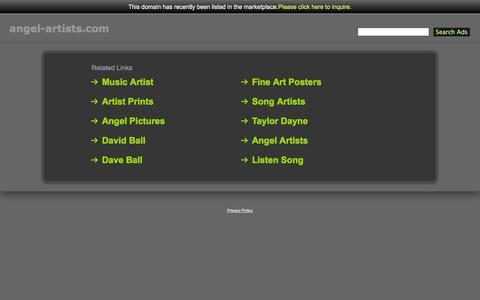 Screenshot of Home Page angel-artists.com - Angel-Artists.com - captured Oct. 4, 2014