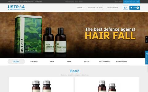 Screenshot of Products Page happilyunmarried.com - Wide range of grooming products for Men - USTRAA  - Ustraa - captured Oct. 1, 2016