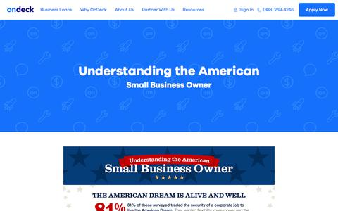 Infographic: Understanding the American Small Business Owner | OnDeck