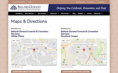 Screenshot of Maps & Directions Page ballarddurand.com - Directions – Ballard Durand - captured Oct. 9, 2017