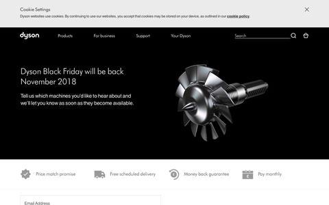 Screenshot of Signup Page dyson.co.uk - Dyson Black Friday Deals   Dyson - captured Nov. 9, 2018
