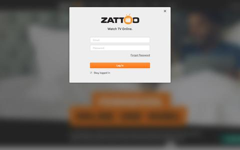 Screenshot of Press Page zattoo.com - Zattoo - Log in - captured July 3, 2016
