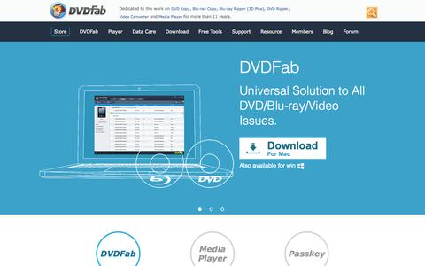 Screenshot of Home Page dvdfab.cn - Welcome to the official website of DVDFab. - captured Aug. 9, 2015