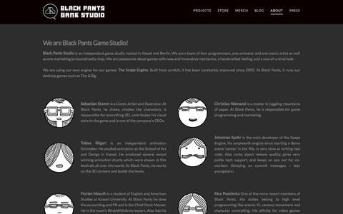 Screenshot of About Page blackpants.de - ABOUT | Black Pants Studio - captured March 1, 2016