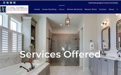 Screenshot of Services Page jhallhomes.com - Services - J. Hall Homes - captured Oct. 1, 2018