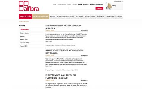 Screenshot of Blog alflora.nl - Nieuws - captured Sept. 30, 2014