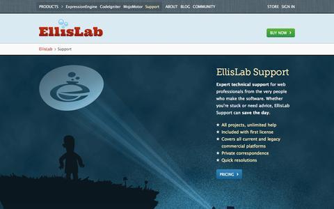 Screenshot of Support Page ellislab.com - Support /EllisLab - captured Oct. 28, 2014