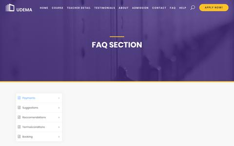 Screenshot of FAQ Page bigbangstudio.nl - FAQ – Game Academy - captured Aug. 2, 2018