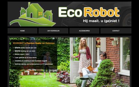 Screenshot of Home Page ecorobot.be - Ecorobot - captured Dec. 7, 2015