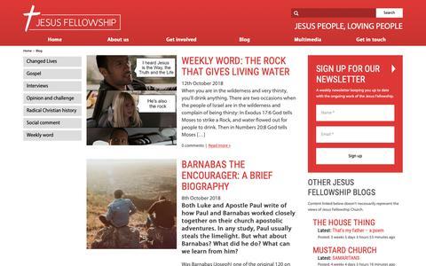 Screenshot of Blog jesus.org.uk - Blog   Jesus Fellowship Church - captured Oct. 13, 2018