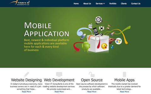 Screenshot of Home Page visionitconsultants.co.in - Website Designing Company Delhi, Website Designing Company India, Website Development Company India, Website Development Company Delhi :Vision IT Consultants - captured Oct. 7, 2014