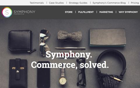 Screenshot of Home Page symphonycommerce.com - Symphony Commerce | Commerce as a Service - captured Sept. 17, 2014