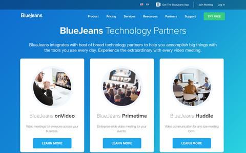 Technology Partners | BlueJeans Network