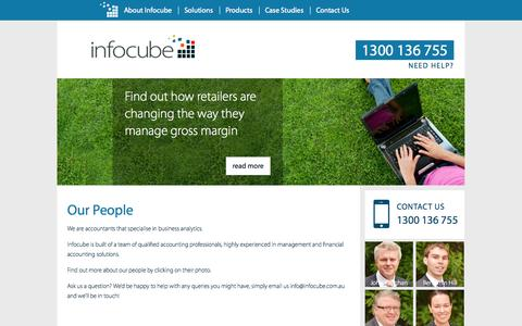 Screenshot of Team Page infocube.com.au - Our People - Infocube - captured Oct. 6, 2014
