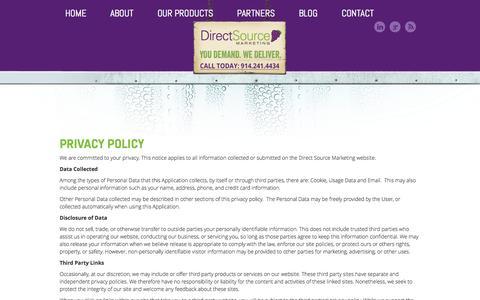 Screenshot of Privacy Page directsourcemktg.com - Direct Source - captured Sept. 19, 2014