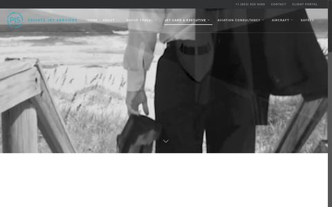 Screenshot of pjsgroup.com - Find Out More About Private Jet Services Group - PJS Group - captured Dec. 31, 2016