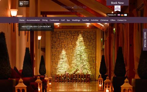 Screenshot of Home Page druidsglenresort.com - 5 Star Hotels In Wicklow | Druids Glen Hotel & Resort Wicklow | Wicklow Hotels - captured Dec. 5, 2015