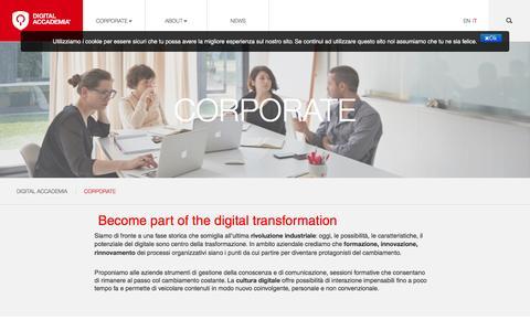 Screenshot of Case Studies Page digitalaccademia.com - Corporate - Digital Accademia - captured Feb. 4, 2017
